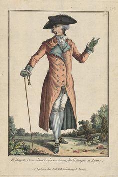 1781 Rédingotte à trois colets et Croisée par devant, dite Rédingotte en Lévite.