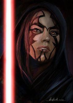 Star Wars girl Sith, sketch. by padraven.deviantart.com on @DeviantArt