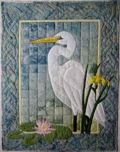 Egret Wall Quilt Pattern by donnaburkholder on Etsy, $9.00