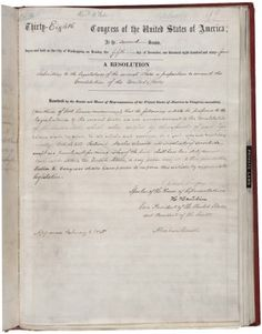While the Thirteenth Amendment was set into law, thus outlawing slavery anywhere in the United States, on December 6, 1865 when it secured the needed 27 of 36 states' approval (3/4), it wasn't until 130 years later on March 16, 1995 that Mississippi finally got around to ratifying the Thirteenth Amendment. As you might expect, this made Mississippi the last state to ratify it, with the previous state of the initial 36 being Kentucky in 1976 and before that Delaware in 1901. All three of…