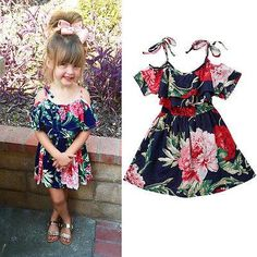 Summer Toddler Baby Girl Skater Dress Kid Floral Princess Party Dresses Party birthday Dress Wedding New Year Baby Dress Frocks For Girls, Toddler Girl Outfits, Little Girl Dresses, Kids Outfits, Girls Dresses, Flower Girl Dresses, Toddler Girl Clothing, Flower Girls, Baby Girl Dress Patterns