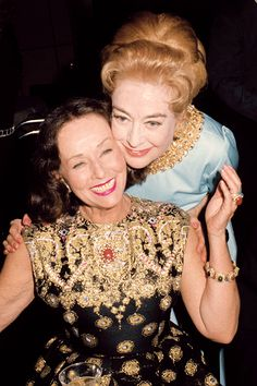 Paulette Goddard and Joan Crawford