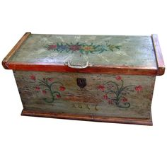 1817 European Folk Art Painted Blanket Chest | From a unique collection of antique and modern painted furniture at http://www.1stdibs.com/furniture/folk-art/painted-furniture/
