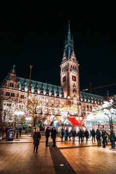 Christmas Market Fun In Hamburg, Germany… - It took me a while to get used to the name Rathaus. See, Rathaus are German city halls (effectively - German Christmas Markets, Christmas Markets Europe, Christmas Travel, Vienna Christmas, Berlin Christmas Market, Christmas In Germany, Christmas Destinations, Christmas Mood, Christmas Vacation