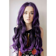 Purple Hair ❤ liked on Polyvore featuring hair, people and hairstyles
