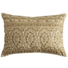 Pier 1 Imports Gold Metallic Beaded Pillow