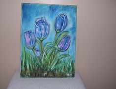Acrylic on Canvas Tulips