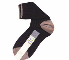 Chichy ankle socks black and brown. 30% cashmere 70% new zeland merino