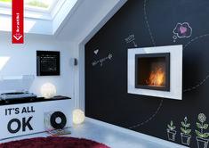 Biokominek Oscar biały #kratkipl #biokominek #wnętrze #pokój #dziecięcy #biały