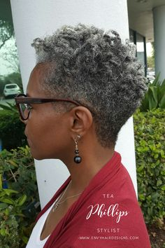 Natural Tapered Cuts On Gray Hair
