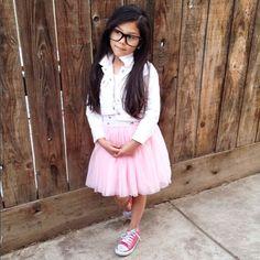 Kids Street Style - love this look by @txunamy #kidsfashion #kidsootd #tutudress