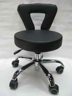 Amazon.com : Spa Pedicure Chair Stool for Nail, Hair, Facial Technitian (Tall, Black) : Beauty