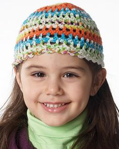 Light Crochet Hat for Kids - looks easy to make and perfect for in-between weather. #crochet #freepattern