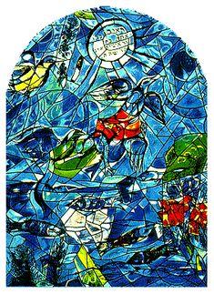 Hadassah University Medical Center, Jerusalem, Israel.  By Marc Chagall