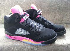 e696361e558 Air Jordan V – Black – Bright Citrus – Fusion Pink Air Jordans