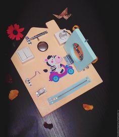Купить Бизиборд - мини домик - бизиборд, Монтессори, заказать, развивающая игрушка, моторика, дети, подарок