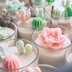 Treat yourself or a friend to a Cacti Candle Jar. Find more unique candles and unique candle holders at Apollo Box! Diy Candles Easy, Cute Candles, Homemade Candles, Scented Candles, Making Candles, Jar Candles, Beeswax Candles, Creation Bougie, Cactus Candles