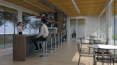 Café no acesso principal da habitação