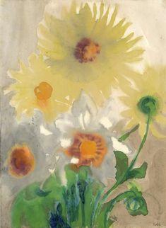 Emil Nolde : Gelbe Dahlien