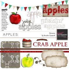 Apples Elements Kit by Brooke Gazarek | Pixel Scrapper digital scrapbooking