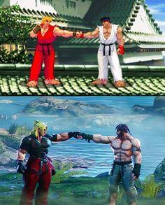 Street Fighter - Then vs. Street Fighter Tekken, Ryu Street Fighter 5, Snk King Of Fighters, Street Fighter Characters, Super Street Fighter, Super Anime, Fight Night, Video Game Characters, Fighting Games