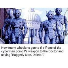 NOPE NOPE NOPITY NOPE BECAUSE IN THE SEASON 8 FINALE THEY TURNED ALL THE RECENTLY DECEASED INTO CYBERMEN AND THAT INCLUDES AMY AND RORY WHICH MEANS THEY WERE TURNED INTO CYBERMEN WHO IS CRYING RN CUZ I KNOW I AM