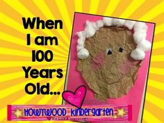 When I am 100 Years Old Writing & Activity: Perfect for 10 maybe time line idea, repeating this at different stages of life 100 Day Of School Project, 100 Days Of School, Too Cool For School, Middle School, Gross Motor Activities, Teaching Activities, Classroom Activities, Classroom Crafts, Classroom Fun
