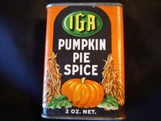 1935 IGA Halloween Pumpkin Spice Tin