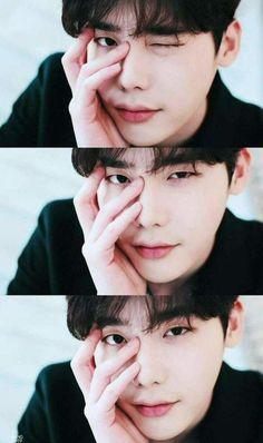 "I was like ""Oppa stop doing this to me! Please I need to study! Korean Celebrities, Korean Actors, Asian Actors, Korean Actresses, Lee Jong Suk Cute, Lee Jong Suk Kim Woo Bin, Lee Jong Suk Model, Lee Jong Suk Wink, Lee Jong Suk Wallpaper"