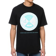 """Get your shine on with the Diamond Supply All Or Nothing black tee shirt. This standard fit guys short sleeve crew neck tee features a large custom mint and white Diamond Supply graphic at the upper chest with Diamond logos in the center and """"THE INTERNATIONAL DIAMOND LIFERS ALL OR NOTHING CLUB"""" printed around the outside of the graphic on the upper chest. Below the graphic are city names in mint, """"LOS ANGELES PARIS BEIRUT MOSCOW NEW YORK TOKYO SAN FRANCISCO"""" and a logo tag at the bottom…"""
