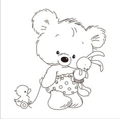 Look what I found on AliExpress Cute Coloring Pages, Coloring For Kids, Coloring Sheets, Coloring Books, Baby Animal Drawings, Cute Drawings, Teddy Bear Pictures, Easy Canvas Painting, Animated Icons