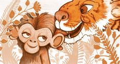 A story about an ape baby looking for his mummy. Here he is told by mother tiger that she cannot be his mummy. Tigger, Disney Characters, Fictional Characters, Illustration, Baby, Illustrations, Babys, Baby Humor, Fantasy Characters