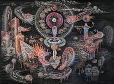 Release Energy Liberation I Drawing pencil, ballpoint on paper 140 x 105 cm 2016