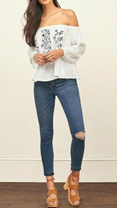 $16.99 Lisingtool Women's Off Shoulder Stripe Casual Blouse Shirt Tops I love this top for a summer date night!  //afflink