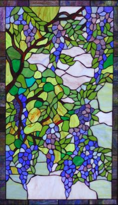 stained glass grapevine