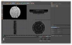 3d printed clock diligence digital art design