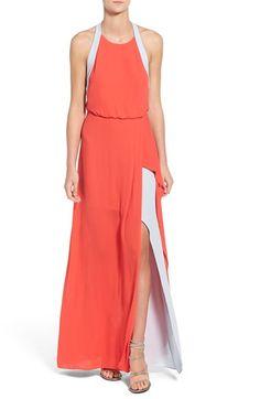 BCBGMAXAZRIA 'Camillia' Layered Georgette Gown