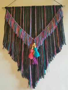 ** Christmas orders closed Dec. 10th. Anything ordered after the 10th will NOT be there before Christmas. Thank you for understanding :-) ** This boho wall hanging is accented with colors to match your babys nursery or any room in your home. These are great pieces for boho and tribal