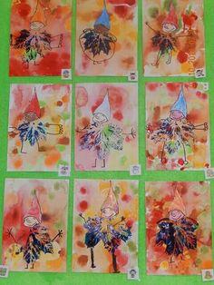 Podzimníčci Fall Arts And Crafts, Autumn Crafts, Autumn Art, Nature Crafts, Painting For Kids, Art For Kids, Crafts For Kids, Primary School Art, Elementary Art