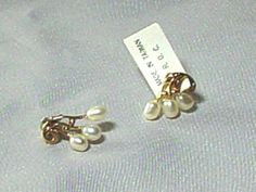 I just listed White Freshwater Rice Pearl Pierced Post Earrings, New w Tag, Circa 1980s, Wedding, Bride on The CraftStar @TheCraftStar #uniquegifts