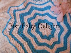 Baby crochet Blanket reborn babies star by Justbabydelights