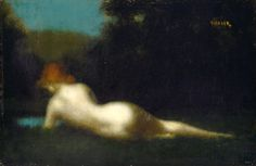 Reclining Nude. Jean-Jaques Henner.
