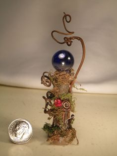 Fairy Woodland Gazing Ball 1 scale by ByTamara on Etsy