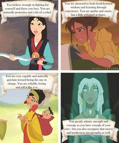 Meaning behind your Favourite disney female