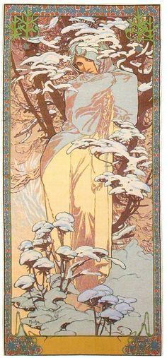 Art Nouveau .- Alphonse Mucha -. - Winter