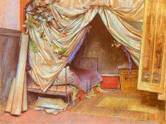 Stanisław Wyspiański (Polish painter, 1869-1907), Wnętrze paryskiej pracowni artysty 1893. Pastel. 45,5 x 59 cm. Muzeum Narodowe, Kraków