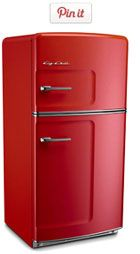 Big Chill Retro Refrigerator  My mom wants one of these  red ones so bad, I would love for her to walk in and it just be there replacing her old one. Of course I want a white one.