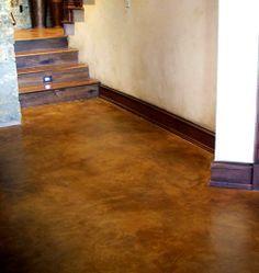 acid wash basement floor cream walls - Google Search