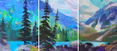 Color Me Happy, acrylic landscape painting by Becky Holuk | Effusion Art Gallery + Cast Glass Studio, Invermere BC River Painting, Boat Painting, Modern Art, Contemporary Art, Cast Glass, Mountain Paintings, Canadian Artists, Landscape Paintings, Art Gallery