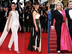 Glamour at the 2015 Cannes Film Festival | News.com.au - Pants-gown glamour: Actresses Cansu Dere, Sophie Marceau and Catherine Deneuve rock the pants-in-a-gown look on the Cannes red carpet. Pictures: Getty/AFP